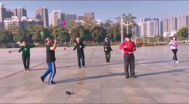 老年人打花棍八个动作慢视频