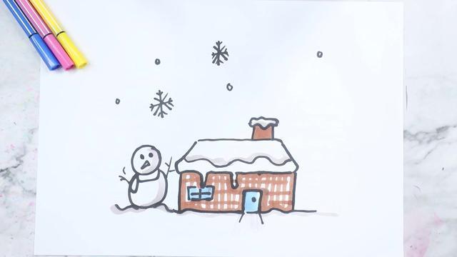 怎么画雪花更好看呢