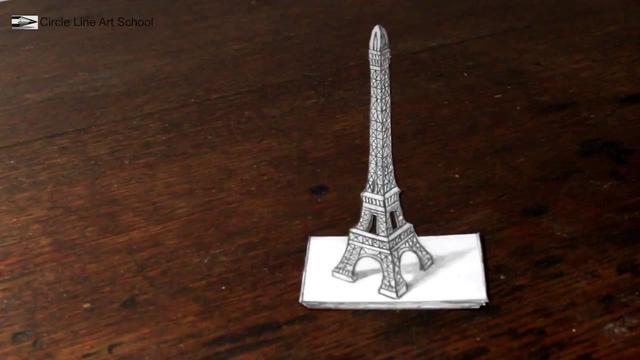巴黎铁塔简笔画