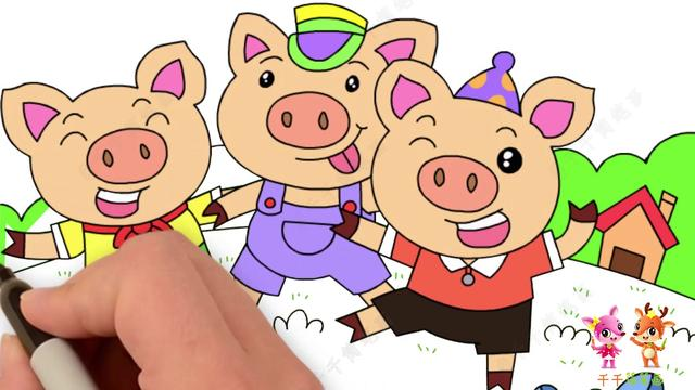 简笔画猪可爱