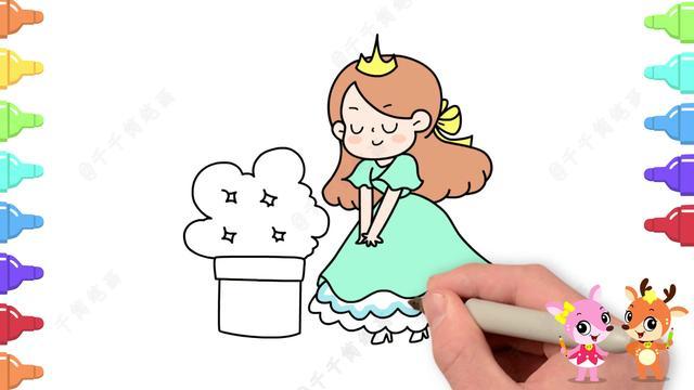 可爱小公主图片卡通