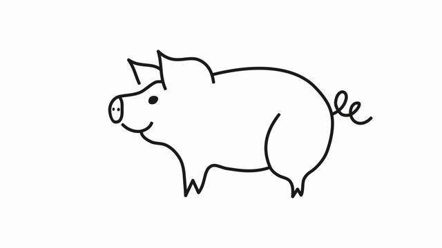 猪年国画:猪的绘画步骤