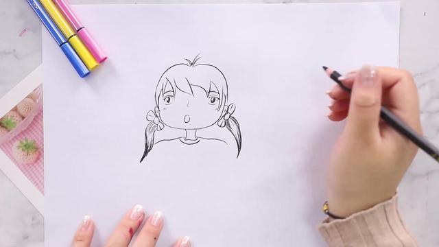 适合绘画新手练习:手绘 板绘动漫二次元美少女素描线稿... - 简书