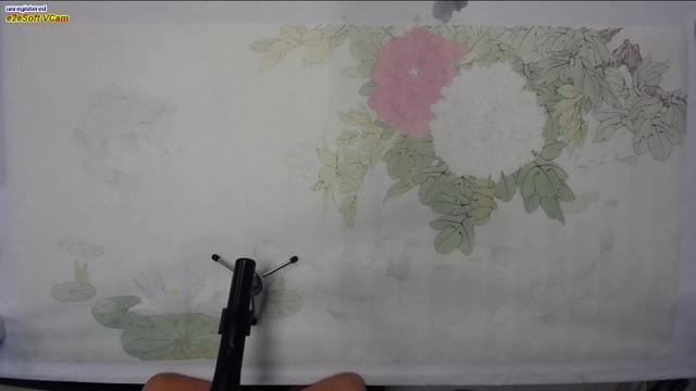 国画工笔牡丹白描底稿