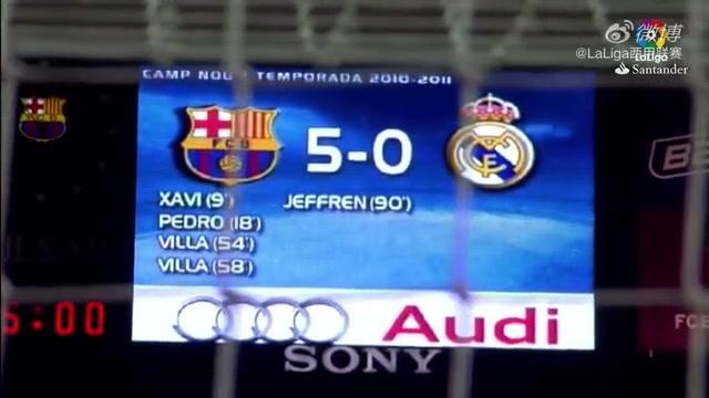 重温经典:2010/11赛季西班牙国家德比,巴塞罗那 5-0 皇家马德里