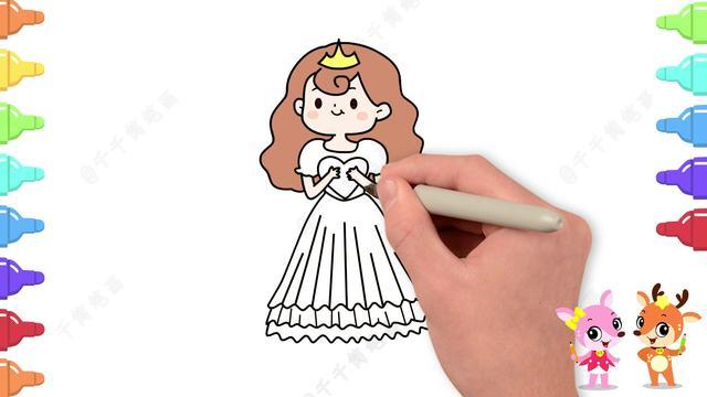 一二三年级画公主皇冠