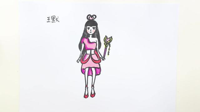 仙女简笔画免抠素材下载-正版素材401732452-摄图网