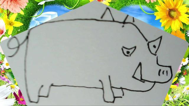 动物简笔画图片大全猪