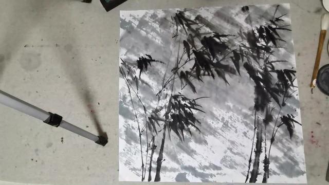 当代水墨画家姜子龙国画墨竹最具时代竹子精神