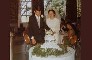 一个结婚时的蛋糕,夫妻吃了49年