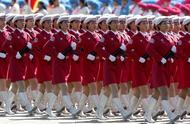 11 advent, see phalanx of female soldiers of parade of each country of in former years