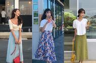 夏日清甜休闲穿搭指南,清新靓丽的颜色让人眼前一亮,显瘦又显高