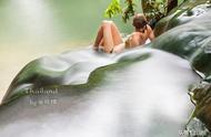 一个不为人知的海岛温泉,竟然还是个瀑布?非一般的原始泡汤体验