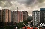 图集 朋友圈里的广州大雨 黑云压城绿树倾