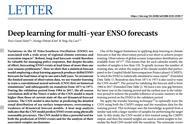 深度学习挑战长期天气预报难题,最早提前一年半预测厄尔尼诺