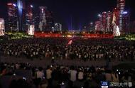 深圳国庆特别版灯光秀市民广场首演!每晚3场,直到10月15日