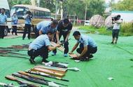 长治市警方集中销毁一批非法枪爆物品