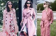 分享一波时尚博主的粉色系风衣搭配,为你带来一丝秋季穿搭灵感
