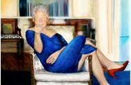 蓝裙红色高跟鞋,爱泼斯坦豪宅惊现克林顿女装画像