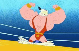 鲨鱼哥与美人鱼:鲨鱼哥和北极熊比拳击,北极熊突然变成肌肉男!