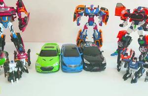 儿童益智变形金刚机器人汽车玩具