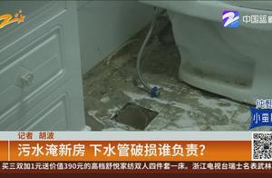 杭州:下水管破损导致男子新房被污水淹没,损失还由谁负责?