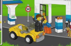 给车子加油,有的车子还是坏的,油都漏掉了