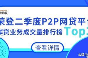 拓道金服在二季度P2P网贷平台车贷业务成交量中排行前三
