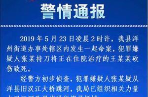 陕西汉中洋县一嫌疑人砍人后疑跳河