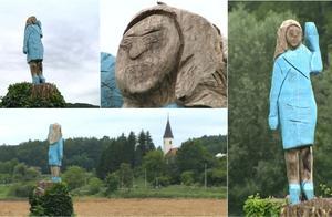亮瞎眼!梅拉尼娅祖国为其建首座雕像,网友笑喷:史上最丑雕塑