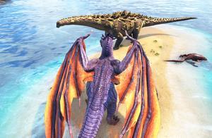 方舟生存进化-VS系列 喷火龙大战恐龙祖先泰坦龙