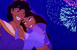 阿拉丁:在一片烟花中,阿拉丁和公主幸福快乐的生活在了一起