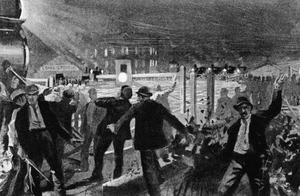 1894年的铂尔曼罢工,克利夫兰总统命令美国军队打击罢工