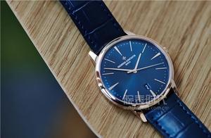 低调奢华有内涵,20万的江诗丹顿传承系列大三针蓝色腕表