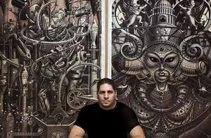 他自学画画,一幅作品耗时几百个小时,这种极致艺术至今无人能敌