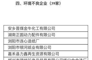 """湖南公布39家环境不良企业,岳阳这7家上了""""黑榜""""!"""
