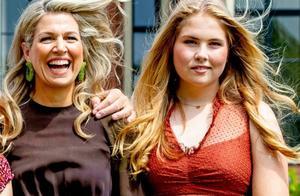 荷兰王后带女儿拍全家福,公主长大变化大,妹妹竟开始像伊万卡