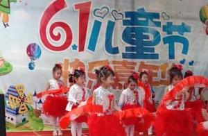 湖北大悟县刘集镇实验幼儿园小朋友表演节目