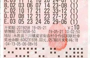 丽江彩民凭机选票赢双色球头奖