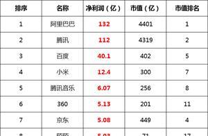 中国互联网公司亏损能力排行榜:陌陌和汽车之家这么赚钱?