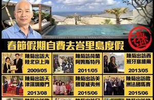 韩国瑜自费去巴厘岛遭批评 陈菊公费出境记录被扒