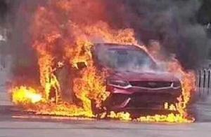 提车上路即自燃烧毁,吉利星越刚上市就火了