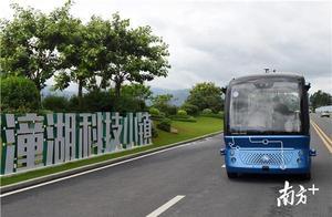 多图|坐无人车上班、用墙体供电!惠州潼湖科技小镇有多少炫酷科技?