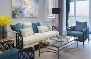 128平米三居室设计说明,15万元装修的美式风格有什么效果?-联投广场装修