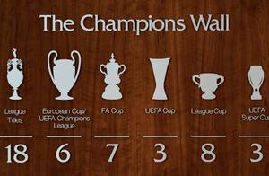 一图流:第六个欧冠来咯,利物浦冠军墙更新啦