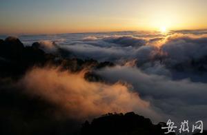 黄山现今夏最美云海 罕见彩虹和佛光同框
