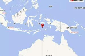 连续两次地震!印尼发生7.6级左右地震