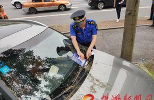株洲人行道违停处罚系统启用首日 天元区8台车辆遭罚