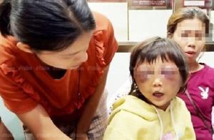 """5岁女童遭家暴双眼瘀肿 替母求情""""她下手不重"""""""