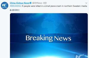 快讯!瑞典北部一架小型飞机坠毁,9人死亡